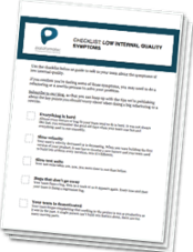 Checklist Low Internal Software Quality Symptoms