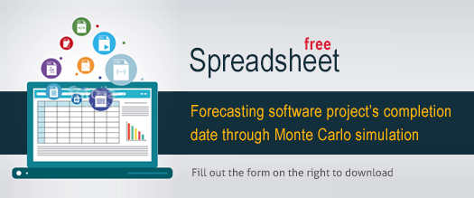 Free spreadsheet: Forecasting software project through Monte Carlo simulation