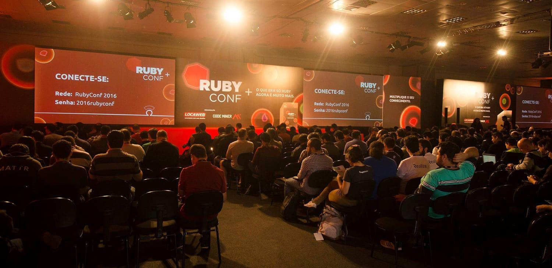RubyConf Brazil 2016 auditorium